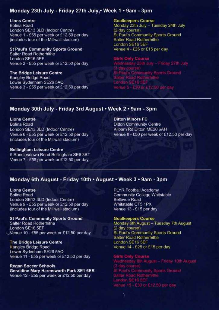 Millwall Community Trust's Summer 2018 Courses » WISE16 co