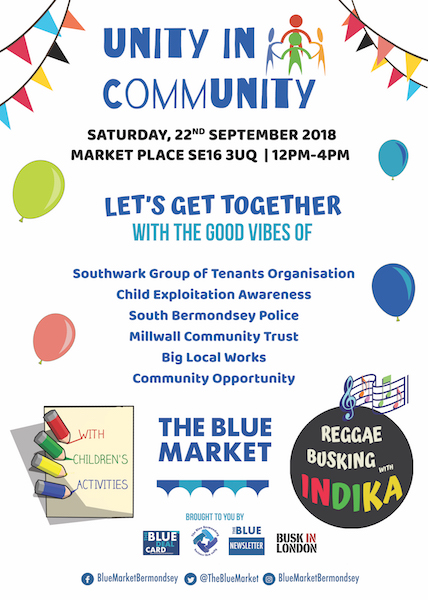 Unity In Community at The Blue Market