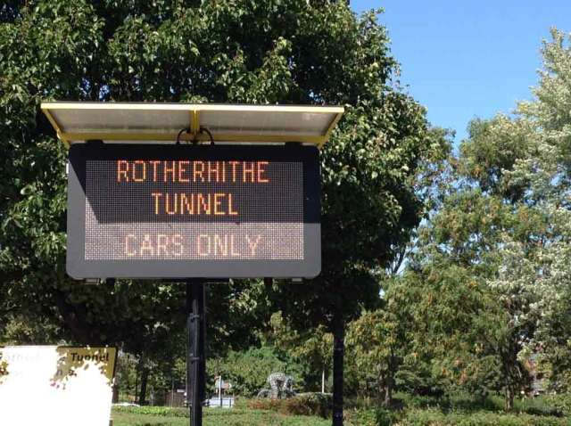 Rotherhithe-Tunnel-Cars-Only-Sign
