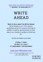 The Poetry School Write Ahead 2019