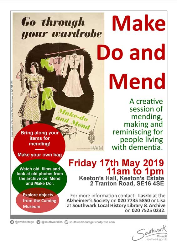 Make Do and Mend Flyer