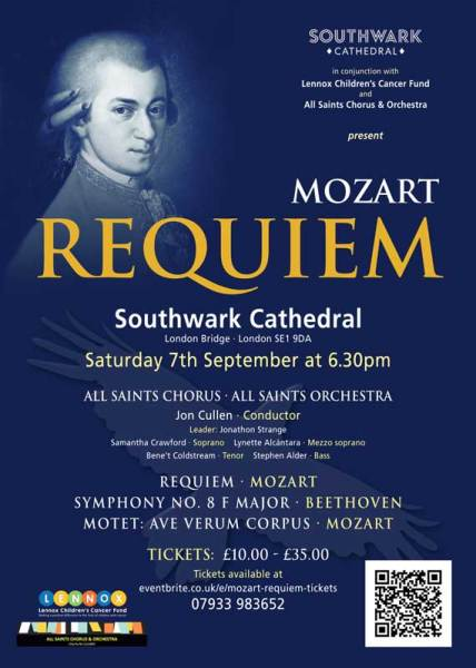 Southwark Cathedral: Mozart Requiem - All Saints Chorus & Orchestra