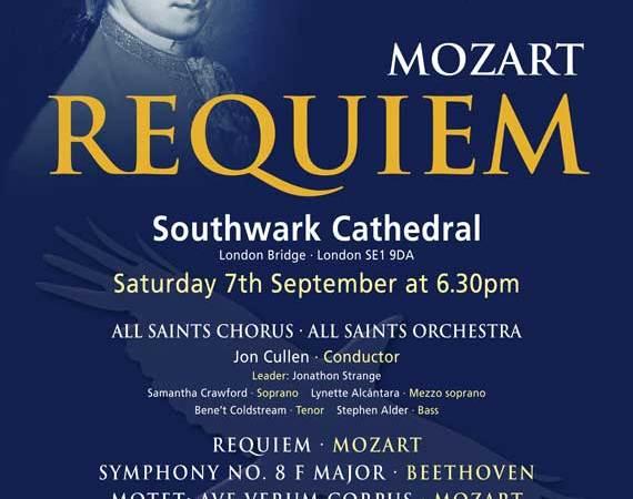 Southwark Cathedral: Mozart Requiem - All Saints Chorus & Orchestra