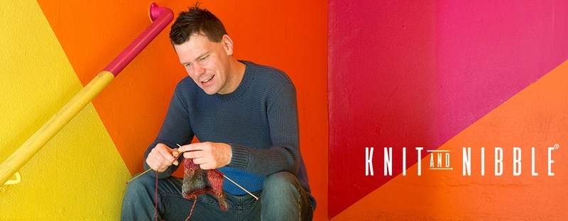 James McIntosh, author of award winning book Knit and Nibble