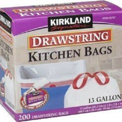 Kitchen Bags How To Redo Cabinets On A Budget The 5 Best Trash Don T Let Low Price Of Kirkland S Signature Fool You 200 Count Box 13 Gallon Drawstring Is Very