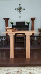 Portable altar with alter book stand