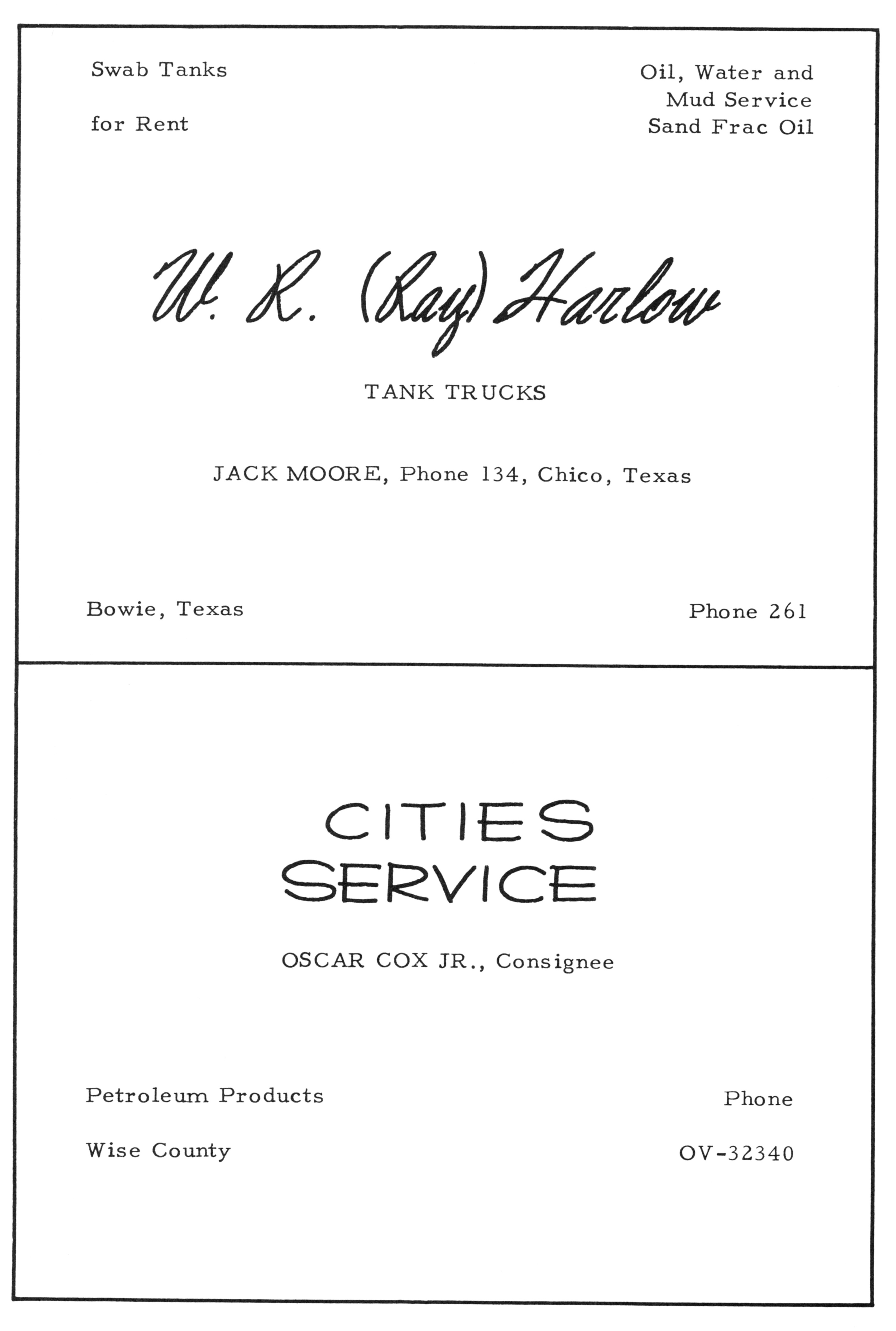 Index of Names C-D for the 1902 & 1941-1979 Chico TX