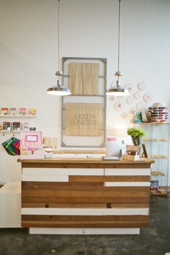 Modern Domestic front counter