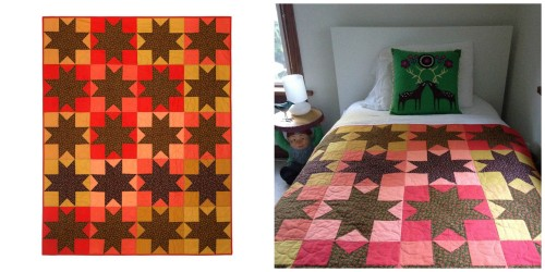 Calico Star Quilt by Wise Craft Handmade