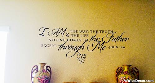 Dctop Joshua 1 9 Be Strong And Courageous Verse Scripture Wall Decals Vinyl Stickers