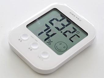 湿温度計で温度・湿度を定期チェック