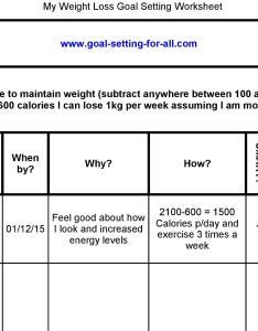 Also Weight Loss Goal Setting Worksheet Rh Wisegoals