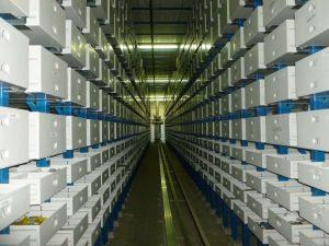 Magazzini automatici -Miniload contenitori metallici