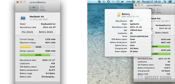 CoconutBattery 3.1 - Update to the tool that checks the status of the battery for Mac - Wisely Guide