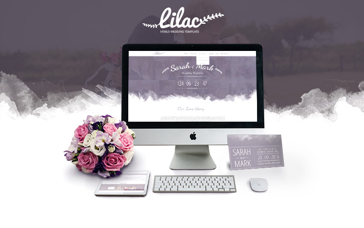 Lilac- Responsive One-page HTML5 Wedding Template - 1