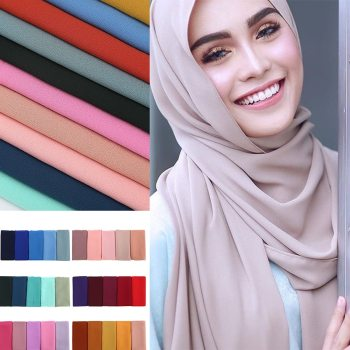 Women's Bubble Chiffon Head Scarf With Multiple Varieties   Wise Outlets  
