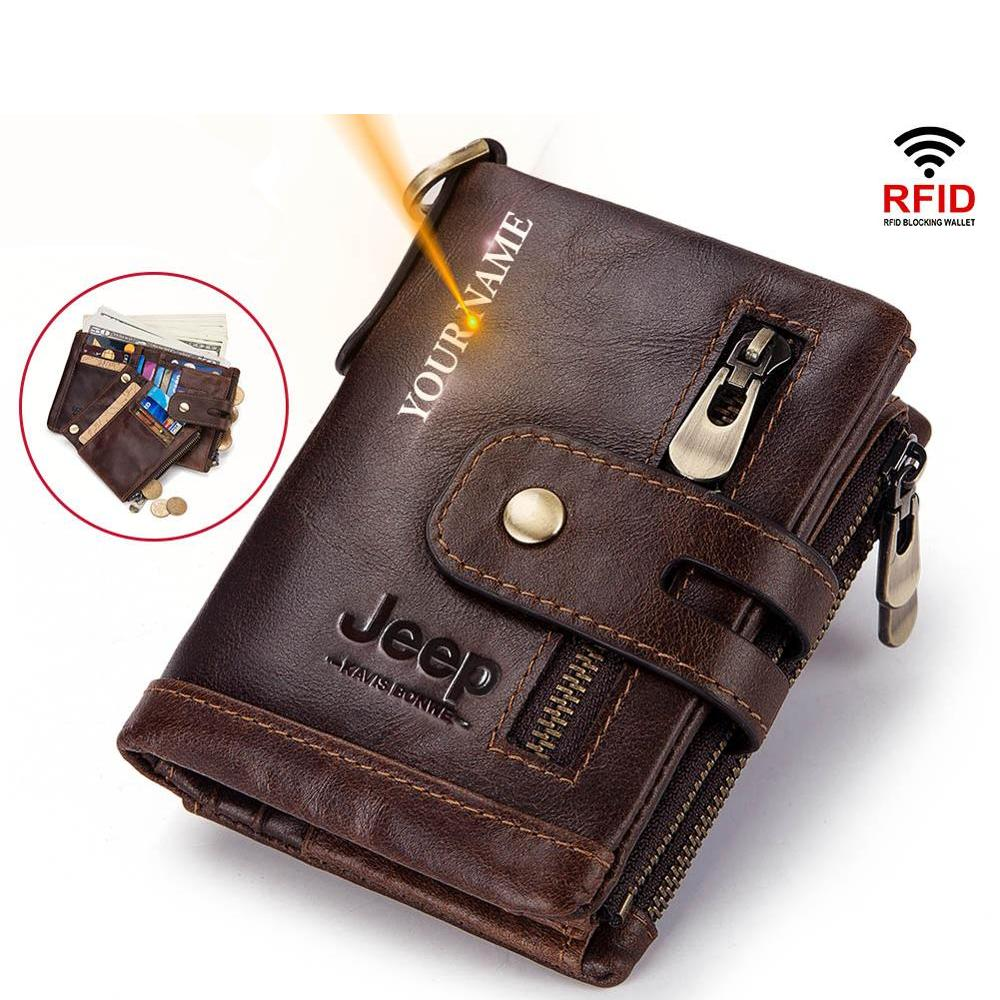 Men's Personalized Leather Wallet With Stylish Designs | Wise Outlets |