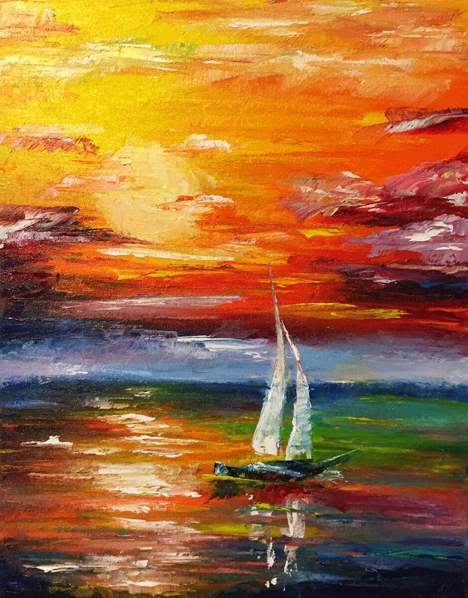 Sail 11x14 Oil on Canvas by Taylor Wise