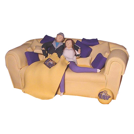 Couple On Couch Cake