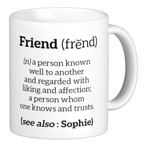 Personalised Define Friend Mug