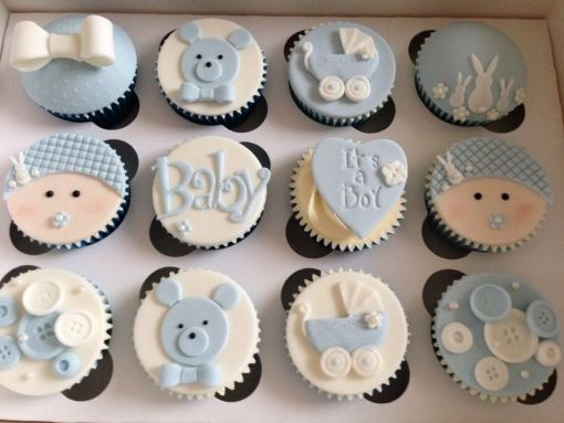 It's A Boy Baby Shower Cupcakes