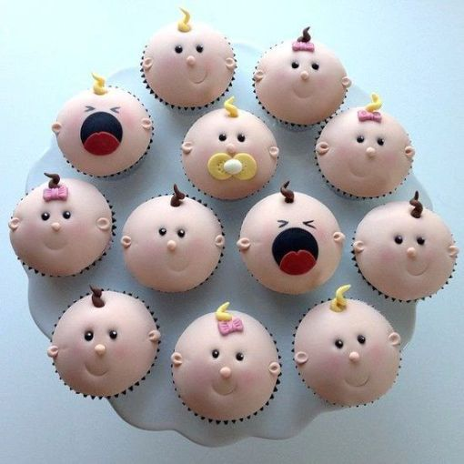 Funny Baby Shower Cupcakes