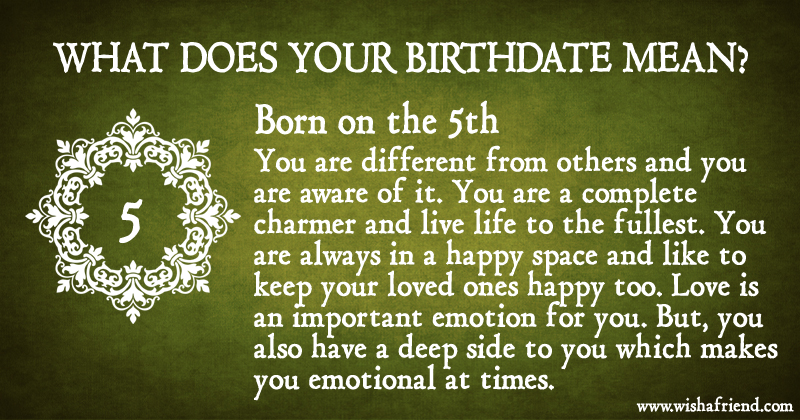 What Does Your Birth Date Mean? - Born on the 5th