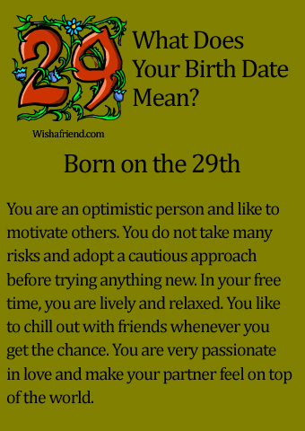 What Does Your Birth Date Mean? Born On The 29th