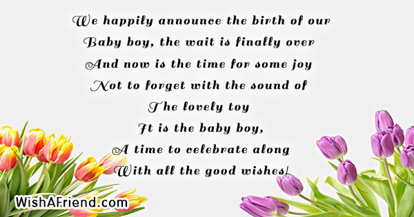 we happily announce the