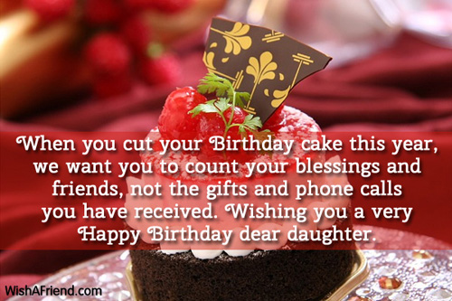 When You Cut Your Birthday Cake Birthday Wish For Daughter