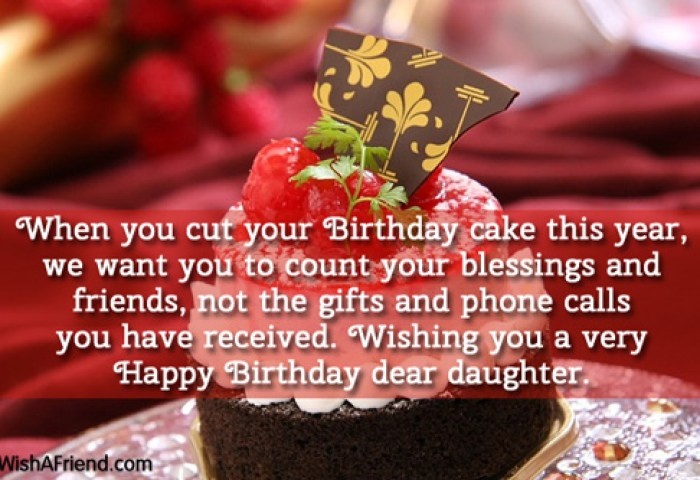 1050 Daughter Birthday Wishes Birthday Cake And Wishes For Daughter