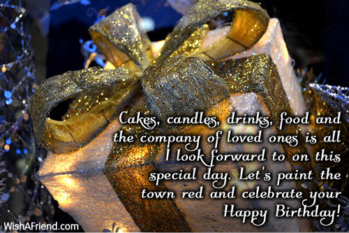 Cakes Candles Drinks Food And The Birthday Wish For