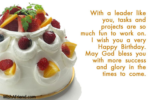 With A Leader Like You Tasks Birthday Wish For Boss