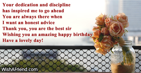 Your Dedication And Discipline Has Inspired Birthday Wish
