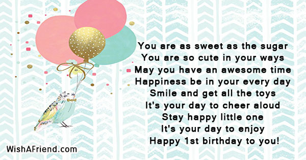 1st birthday wishes page