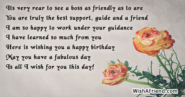 Its Very Rear To See A Birthday Wish For Boss