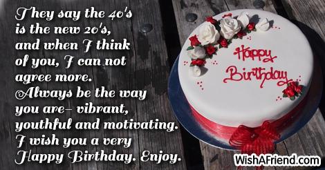 40th birthday sayings