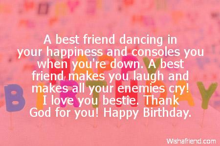 best friend birthday sayings