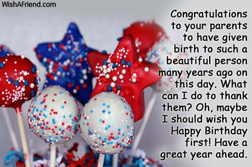 congratulations to your parents