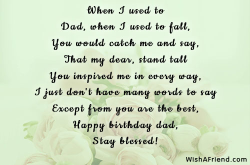 Dad Birthday Poems Page 2