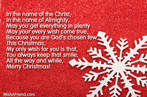 In The Name Of The Lord Christian Christmas Poem