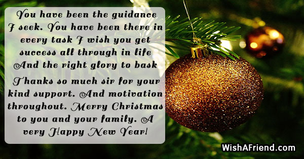 You Have Been The Guidance I Christmas Message For Boss