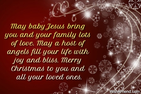 may baby jesus bring