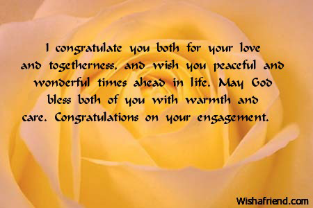 I Congratulate You Both For Your Engagement Wish