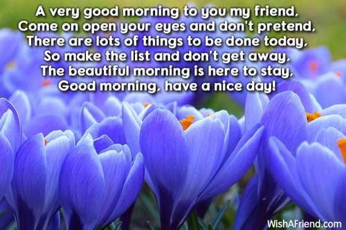 good morning message a