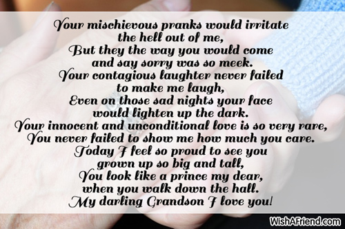 Im So Proud Of You Poem For Grandson