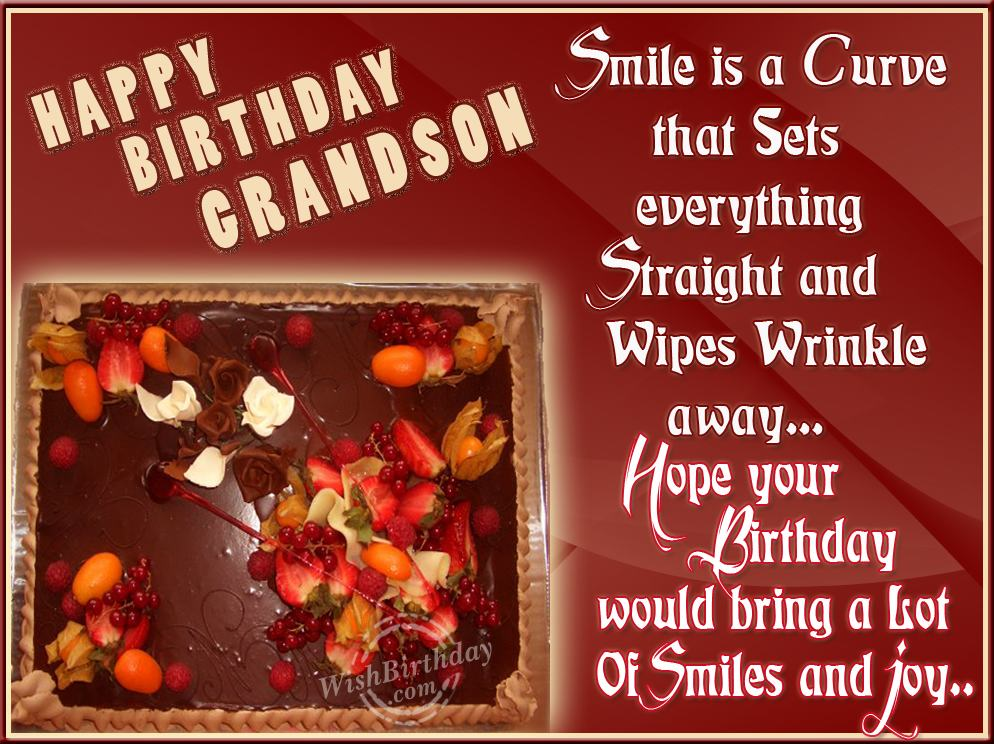 Many Happy Returns To My Caring Grandson WishBirthday Com