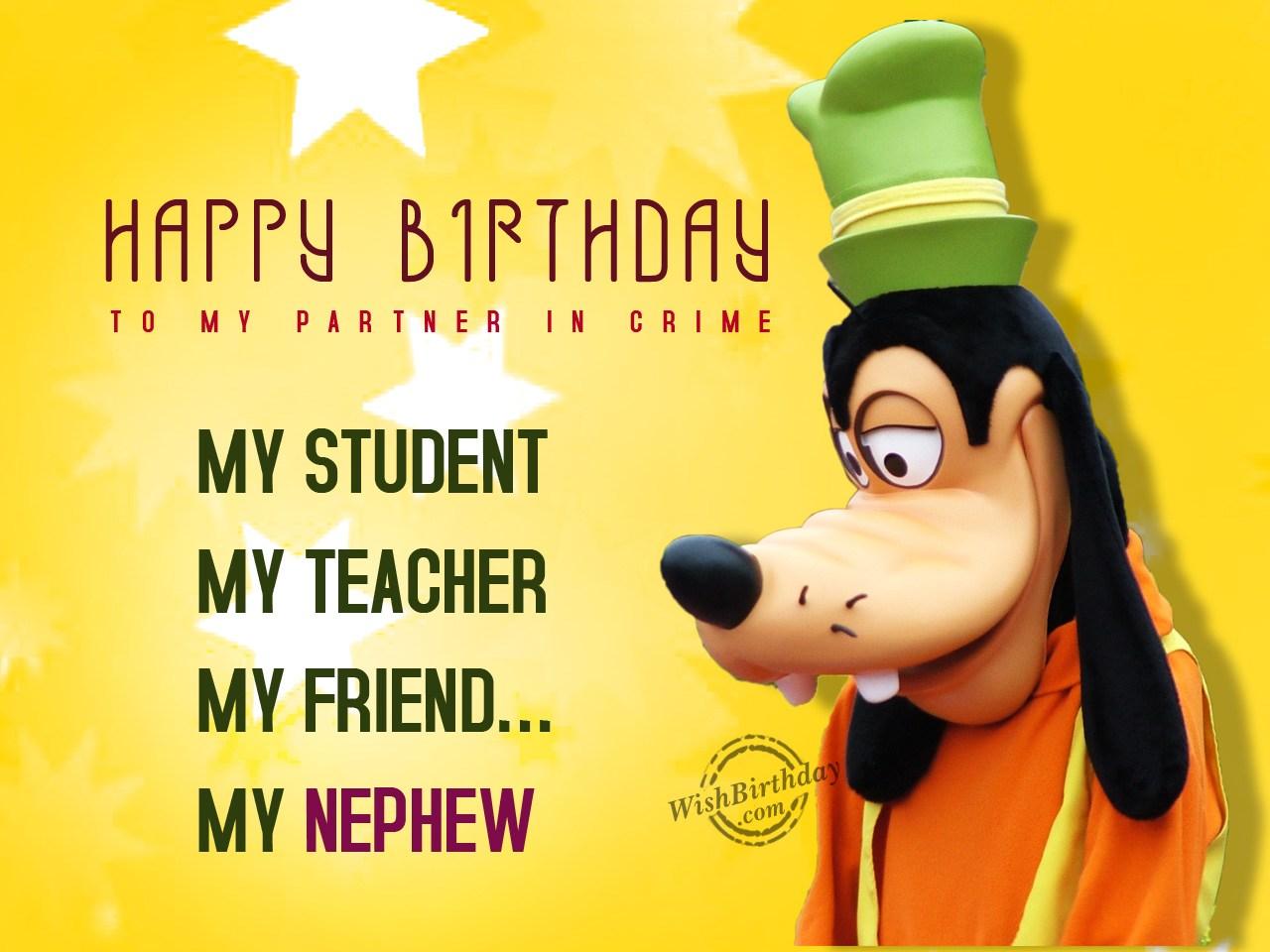 Happy Birthday Partner Crime