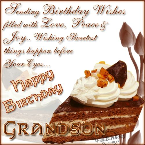 Birthday Wishes For Grandson