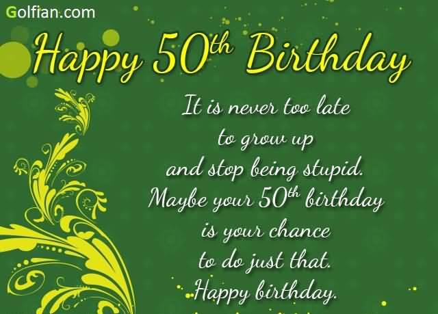 Birthday Wishes For Fifty Year Old Page 2